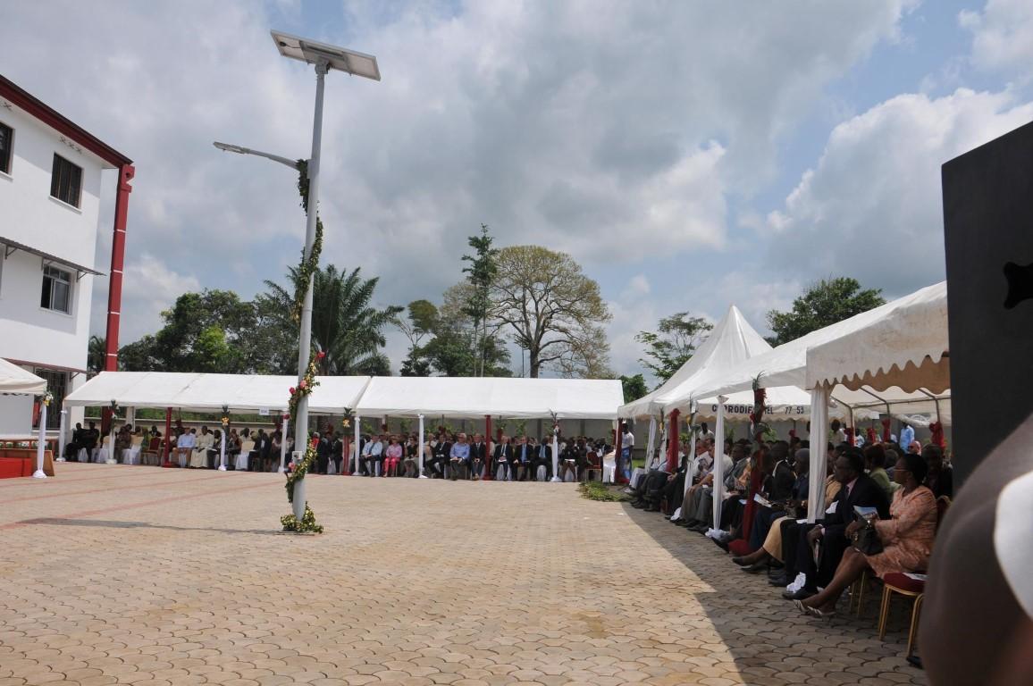 audience lors de l'inauguration du nouveau campus de l'Ucac-Icam à Douala